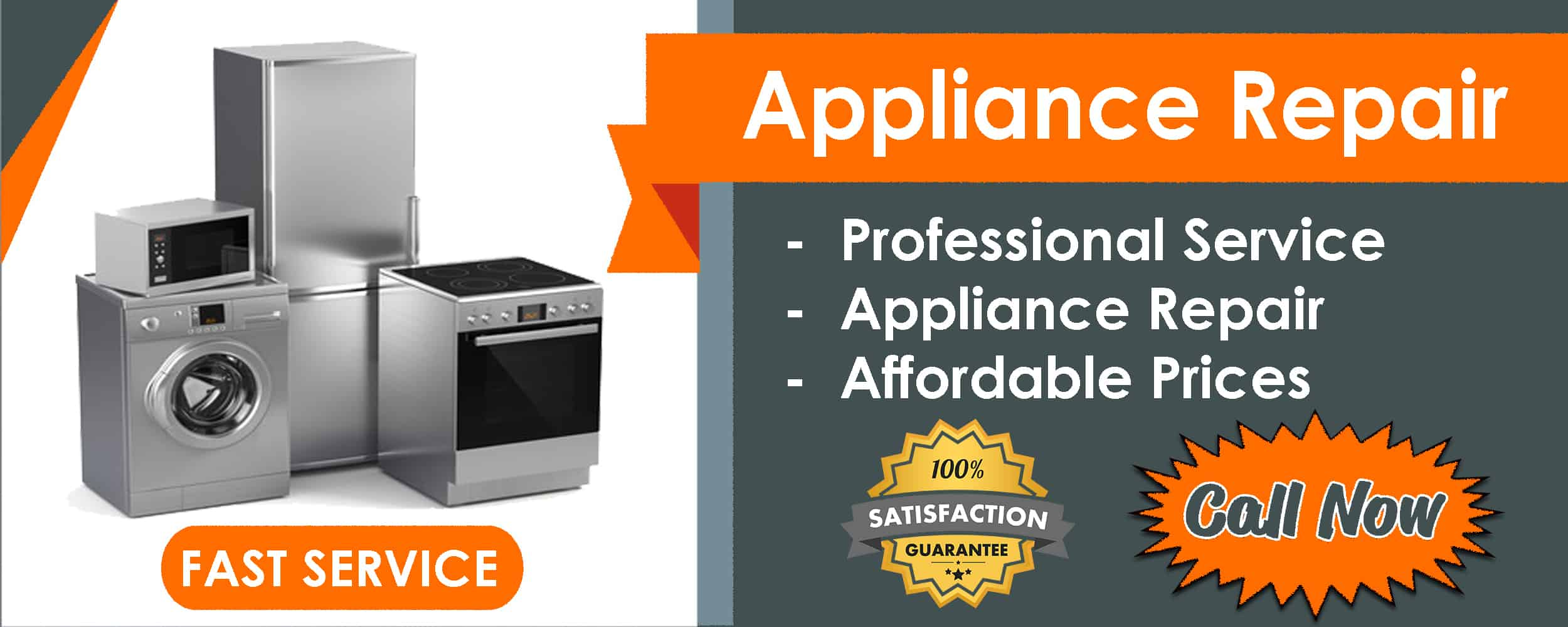 appliance repair service list